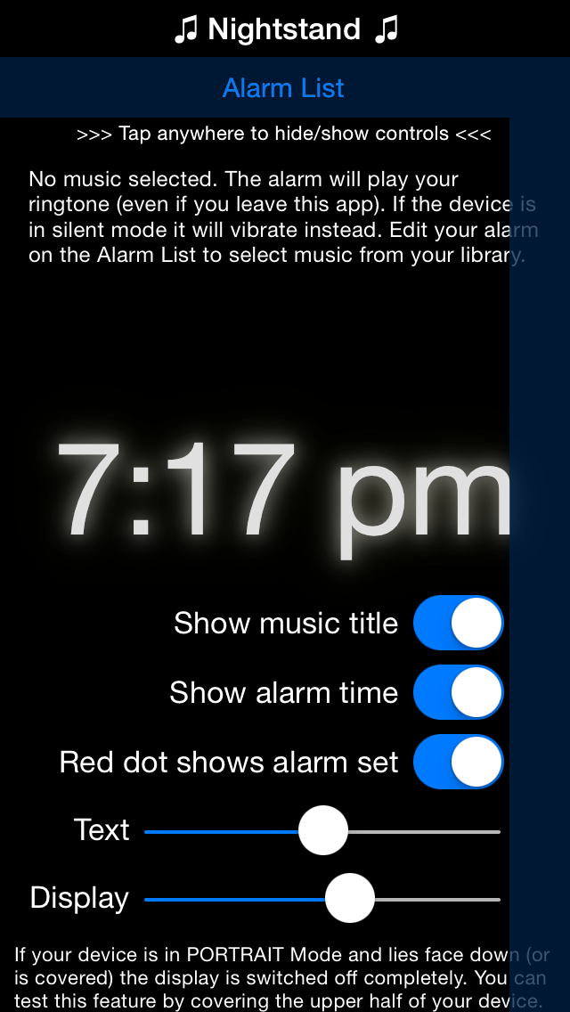 Musik Alarm Clock - iphone1