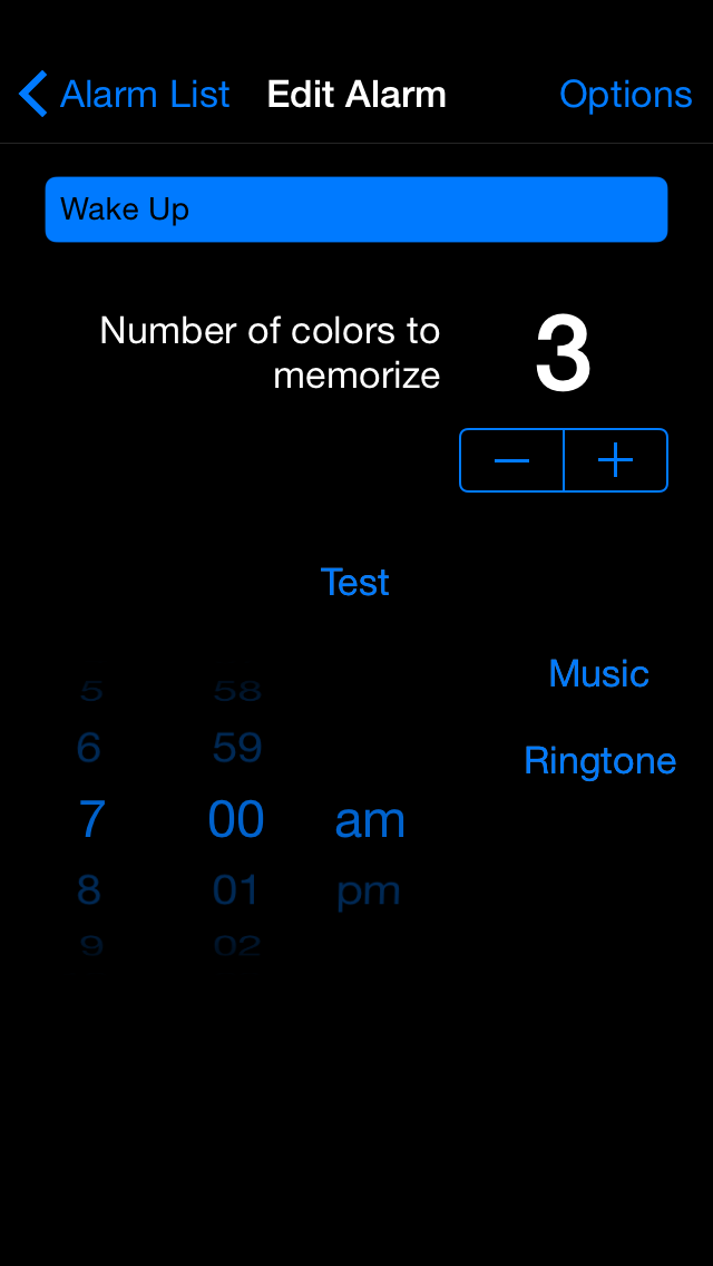 Memory Alarm Clock – Black Edition - iphone1
