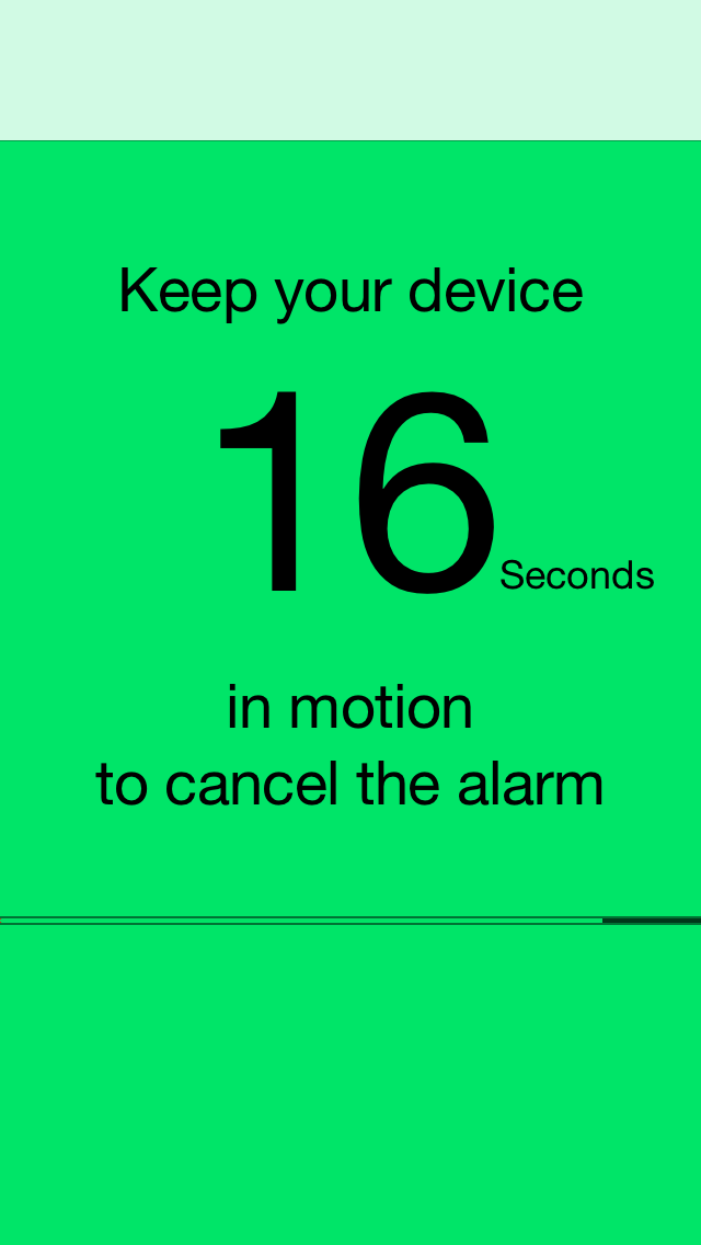 Motion Alarm Clock - iphone1