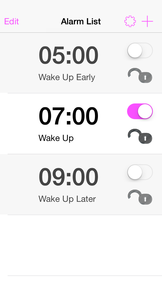 Mathe Alarm Clock - iphone1