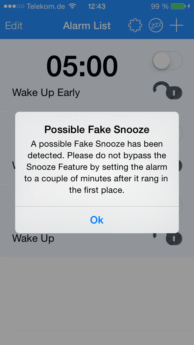 Snooze U Pay - iphone1