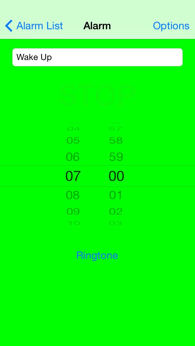 Lockable Alarm Clock - iphone1