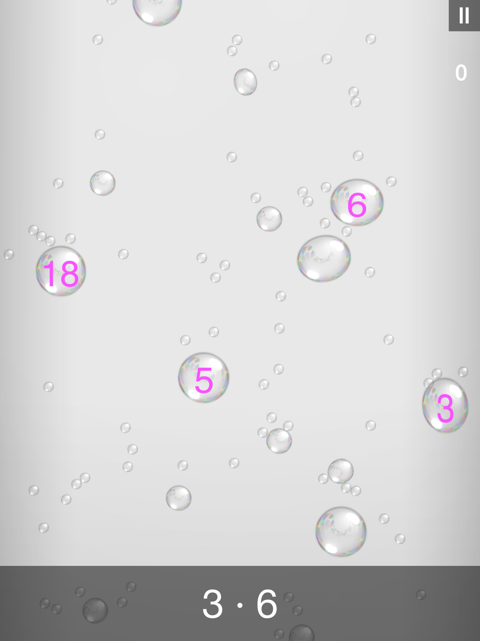 Bubble Stream – Math Edition - ipad2