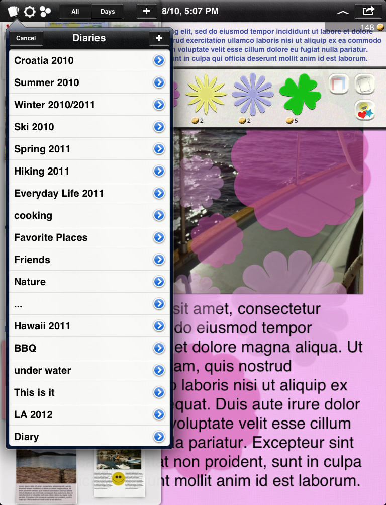 Picture Diary – Your life is your Story - ipad2