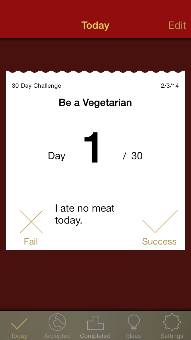 nDay Challenges – change Your Life for n Days - iphone1