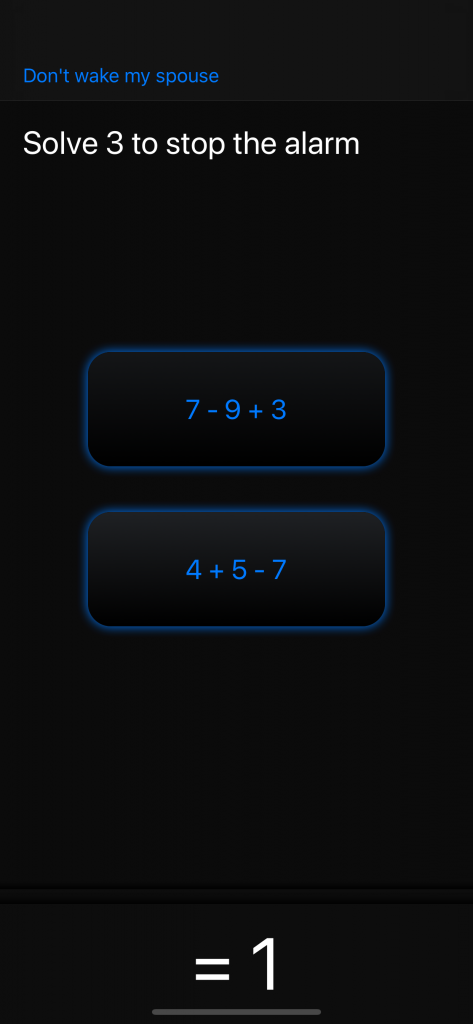 My Math Alarm Clock: Solve multiple choice math problems to stop the alarm