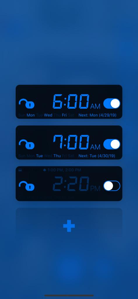 My Math Alarm Clock: Alarm List