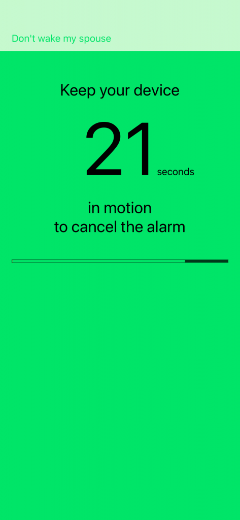 Motion Alarm Clock: Shake to stop the alarm